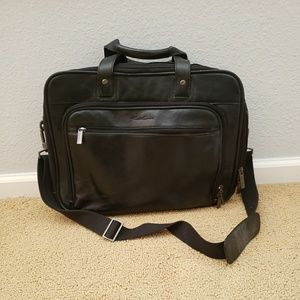 Kenneth Cole Black Leather Briefcase